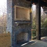 Augusta Natural Ledgestone Thin Veneer Outdoor Living Fireplace