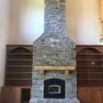 Augusta Real Ledgestone Thin Veneer Interior Fireplace