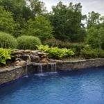 Augusta Real Thin Stone Veneer Outdoor Living Pool