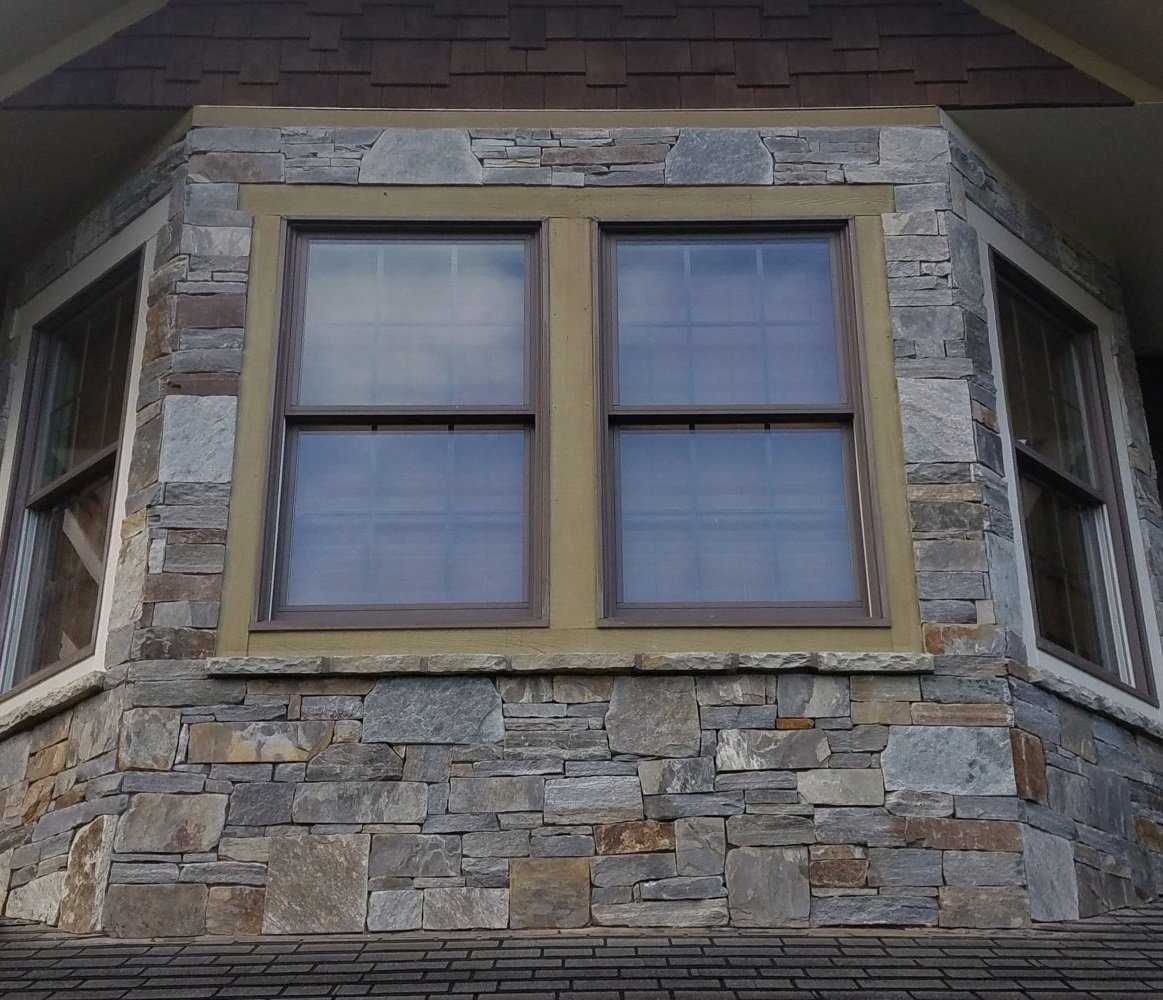 Augusta and Bayside Blend Real Thin Stone Veneer Exterior