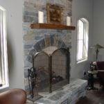 Brighton and Shadow Vista Blend Real Thin Stone Veneer Interior Fireplace