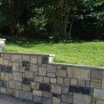 Carlisle and Springfield Custom Blend Real Stone Veneer Retaining Wall