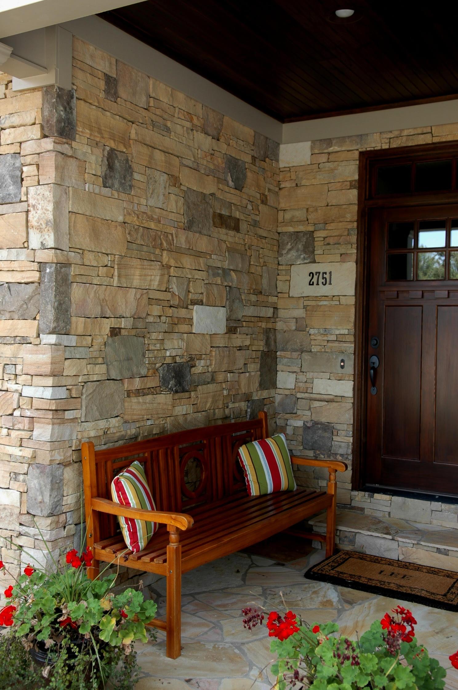 Catalina Natural Thin Stone Veneer Tight Fit Front Entrance
