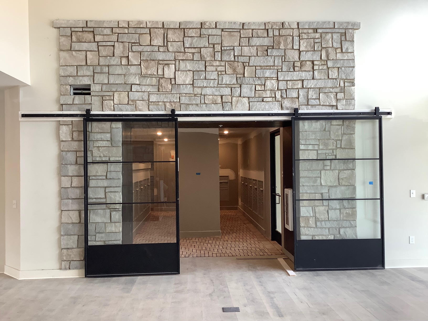 Catskill Real Splitface Thin Stone Veneer Commercial Interior Accent Wall