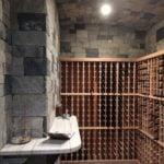 Charleston Natural Thin Stone Veneer Wine Cellar