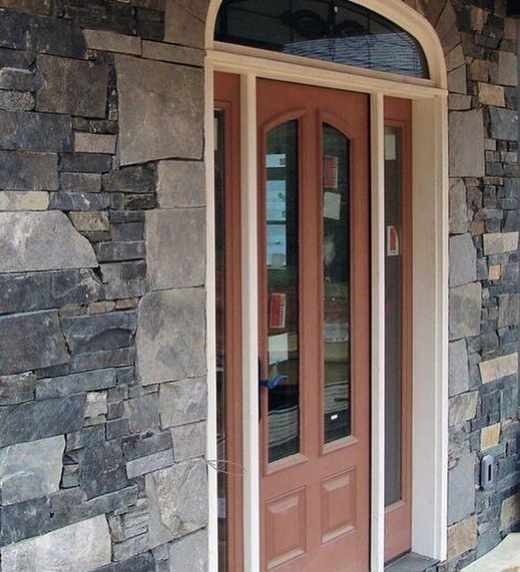 Charleston and Coventry Natural Stone Veneer Custom Blend Front Entrance