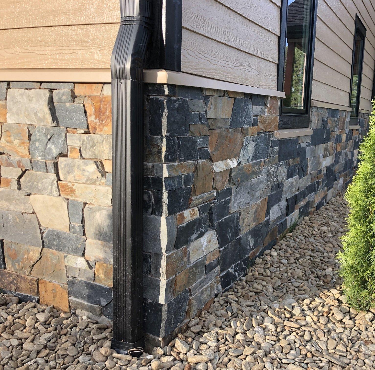 Danbury Natural Thin Stone Veneer Wainscoting