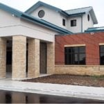 Ellison Bay Natural Thin Stone Veneer Commercial Wainscoting and Pillars