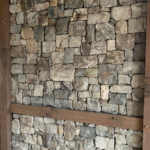 Foxborough Real Thin Stone Veneer Drystack Wall