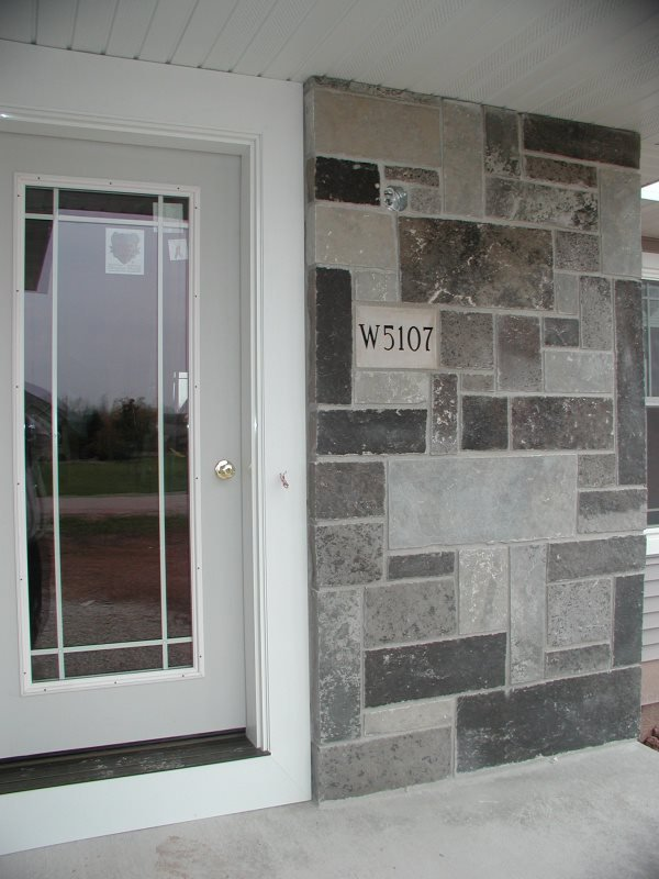 Galaxy and Fond Du Lac Natural Stone Veneer Blend Front Entrance
