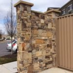 Hillsborough Natural Thin Stone Veneer Commercial Privacy Wall
