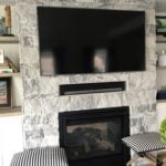 Lincoln Natural Stone Veneer Interior Gas Fireplace