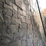 Midnight Shimmer Real Stone Veneer Drystack Wall