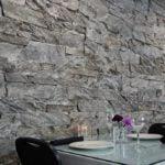 Moonlight Custom Ledgestone Real Thin Veneer Drystack Interior Wall