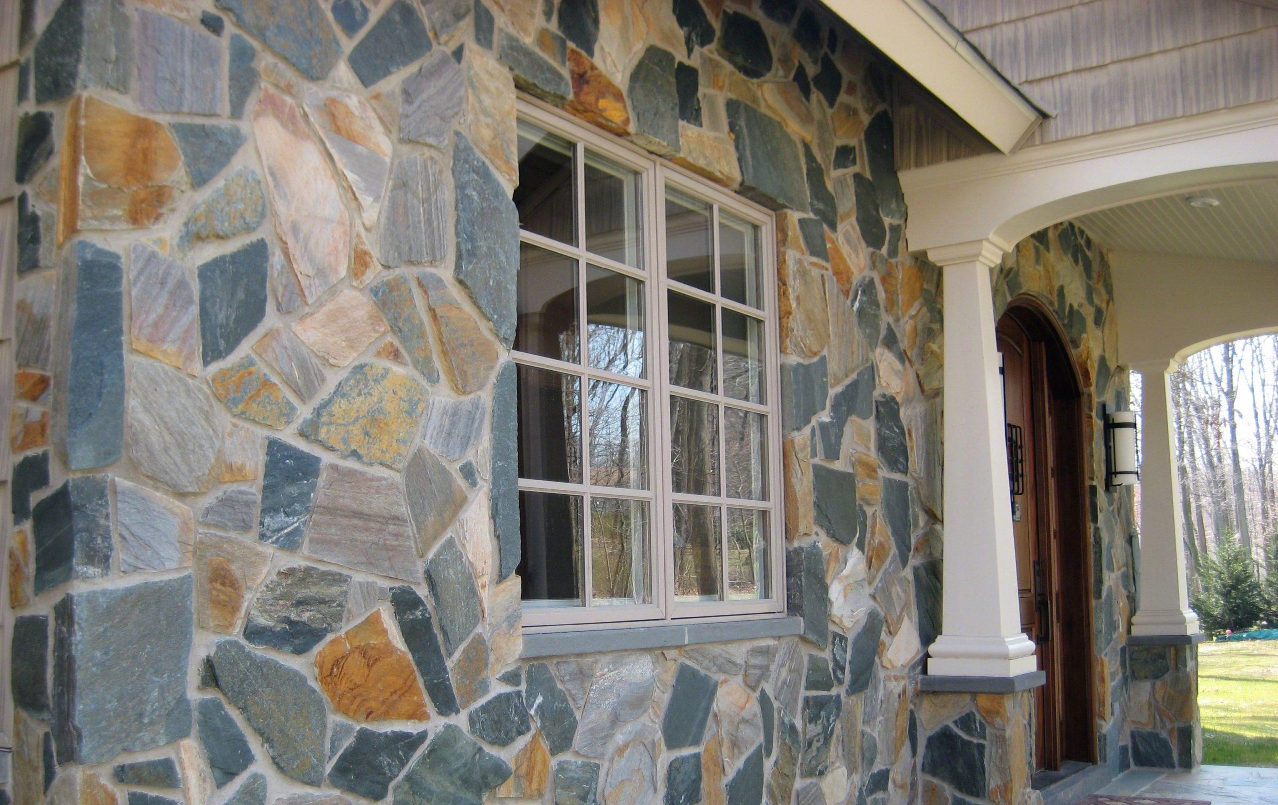 Newport Mosaic Natural Thin Stone Veneer Exterior Masonry