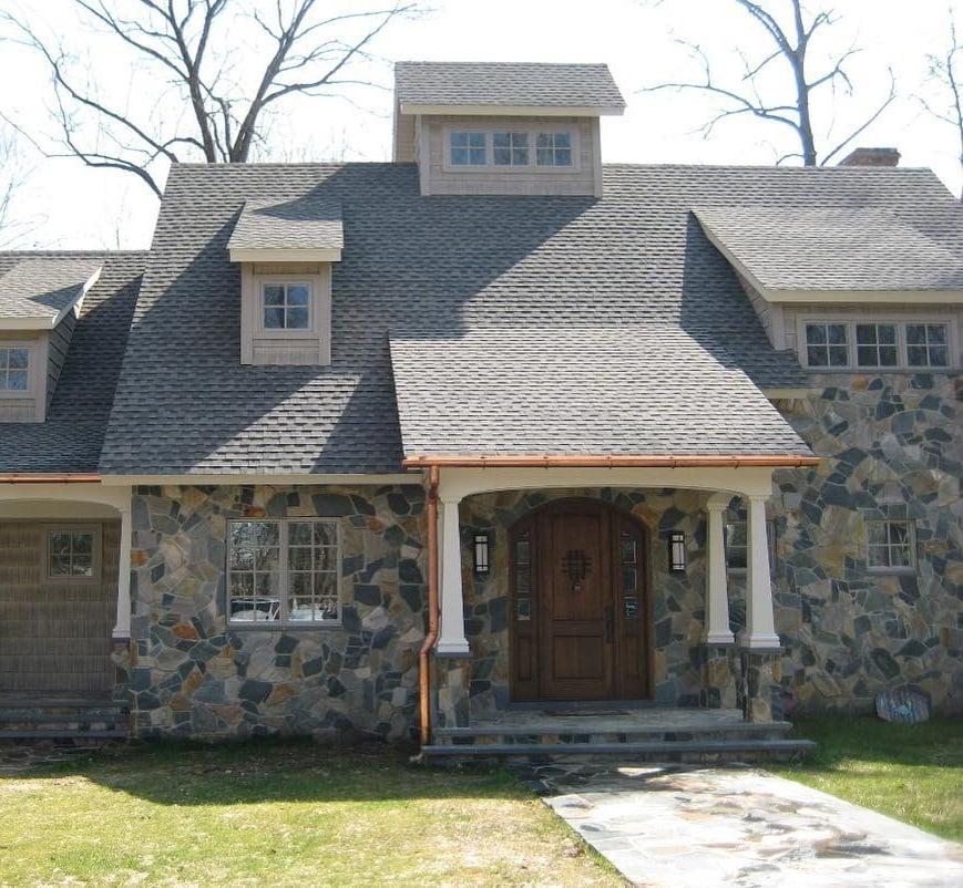Newport Mosaic Real Thin Stone Veneer Exterior
