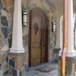 Newport Mosaic Real Thin Stone Veneer Front Entrance
