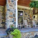 Newport and Bonavista Real Thin Stone Veneer Custom Blend Front Porch