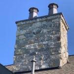Pinedale Real Thin Stone Veneer Chimney