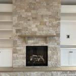 Primavera Dimensional Ledgestone Natural Thin Veneer Interior Fireplace