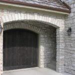 Promenade Tumbled Natural Stone Veneer Garage