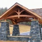 Quincy and Ebony Ridge Real Stone Veneer Custom Blend Pavilion