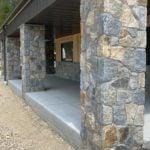 Salem Natural Thin Stone Veneer Custom Mosaic Pillars