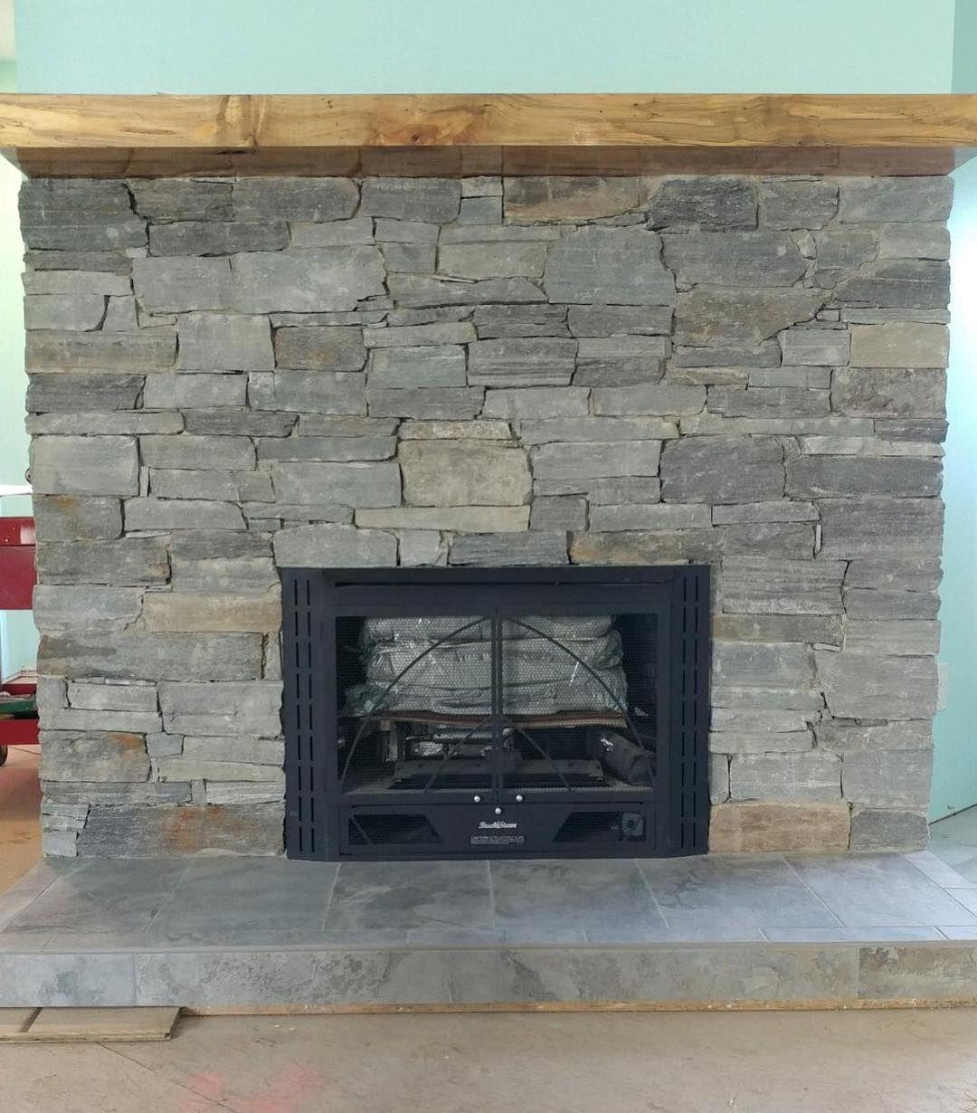 Sheffield Natural Stone Veneer Fireplace