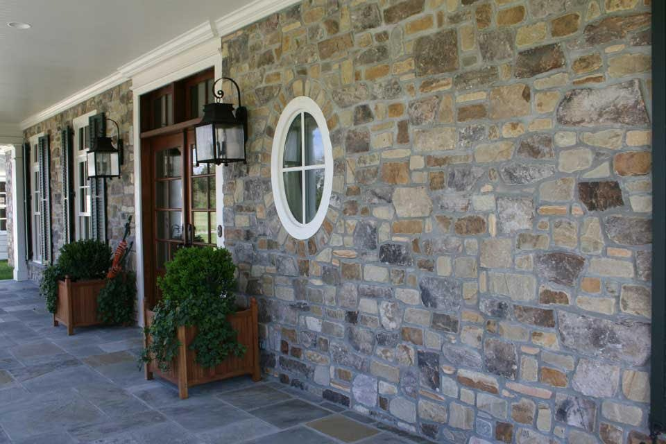 Tantallon Real Thin Stone Veneer Front Porch Exterior Accent Wall