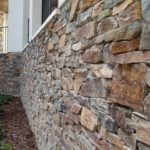 Tucson Natural Thin Stone Veneer Drystack Exterior Wall