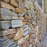 Tucson Real Thin Stone Veneer Drystack Wainscoting Installation
