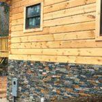 Verona Natural Ledgestone Thin Veneer Cabin