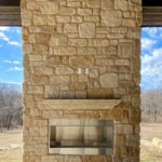 Winfield Natural Thin Stone Veneer Outdoor Fireplace