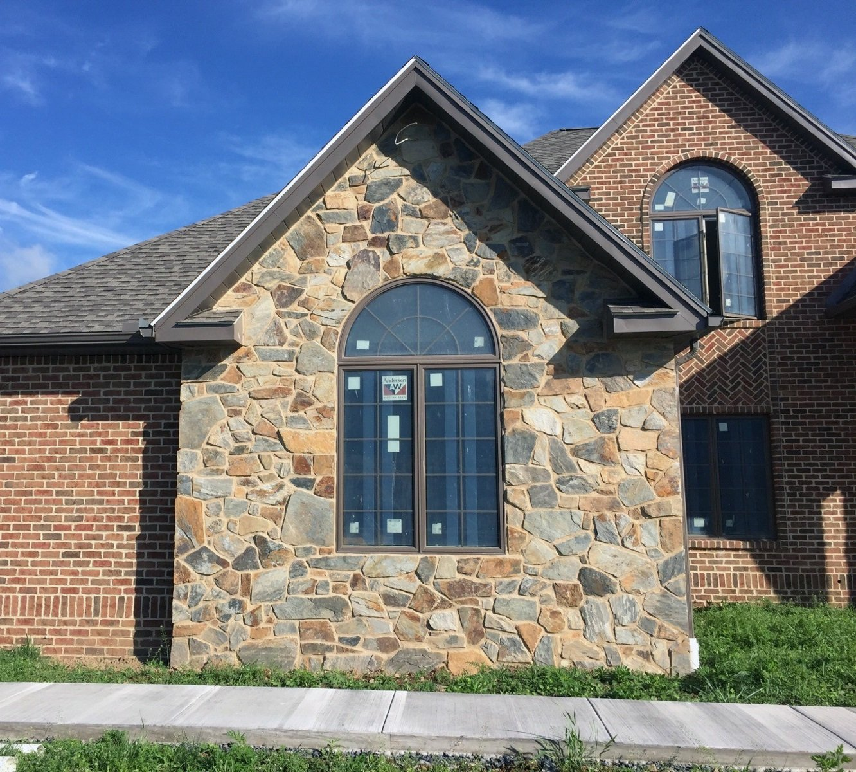 Bonavista Mosaic Natural Thin Stone Veneer Exterior Accent Wall