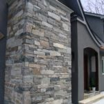 Brighton, Shadow Vista, and Kirkland Custom Blend Natural Stone Veneer Exterior