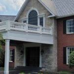 Custom Fond du Lac and Empire Blend Natural Stone Veneer Front Entrance