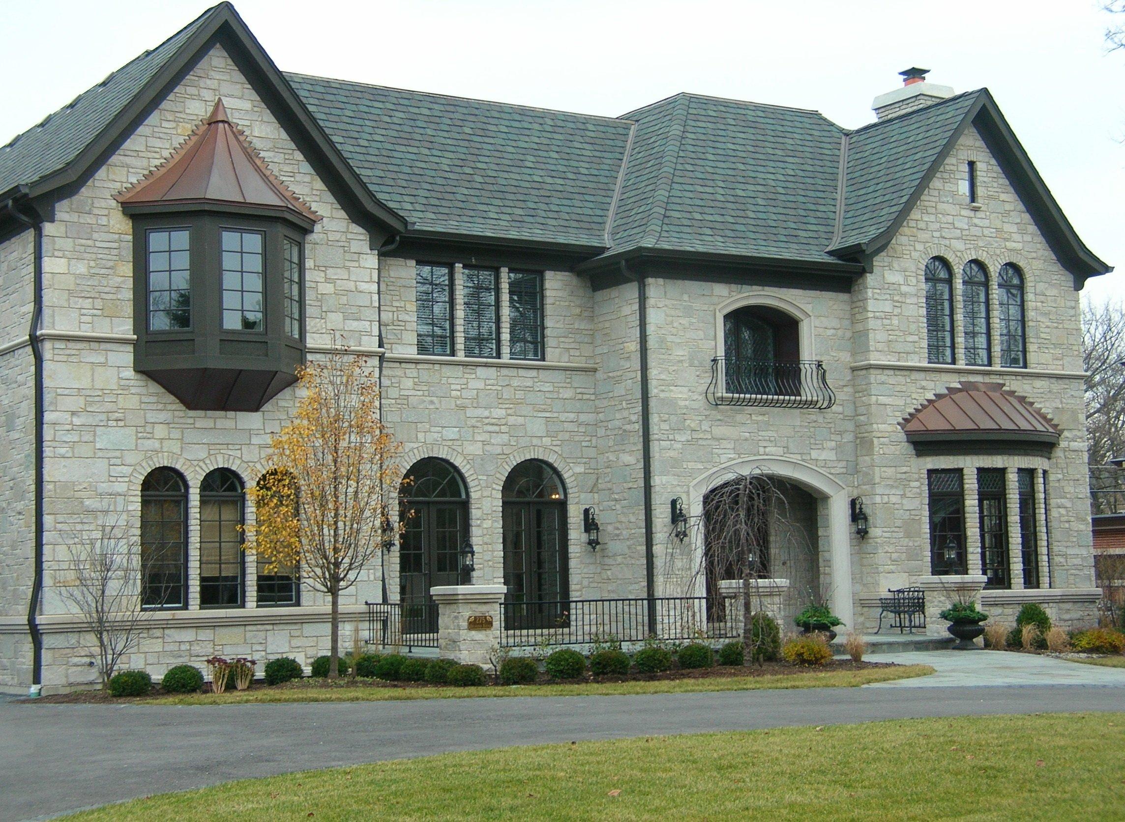 Custom Fond du Lac and Empire Blend Real Stone Veneer Exterior