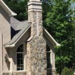 Lowell Natural Thin Stone Veneer Chimney