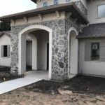 Lowell Natural Thin Stone Veneer Front Entrance