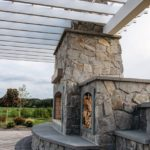Lowell Natural Thin Stone Veneer Outdoor Living Fireplace