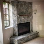 Lowell Real Thin Stone Veneer Corner Fireplace