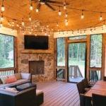 Lowell and Black Sands Custom Blend Interior Corner Fireplace