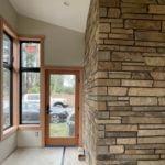 Mahogany Real Thin Stone Veneer Interior Wall