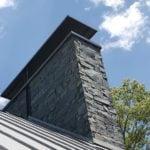 Midford Natural Thin Stone Veneer Chimney Exterior