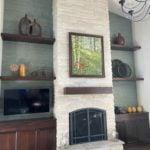 Snowcap White Dimensional Real Thin Stone Veneer Fireplace Surround