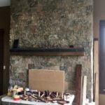 Spreewald Natural Thin Stone Veneer Drystack Fireplace