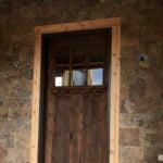Spreewald Natural Thin Stone Veneer Drystack Front Entrance